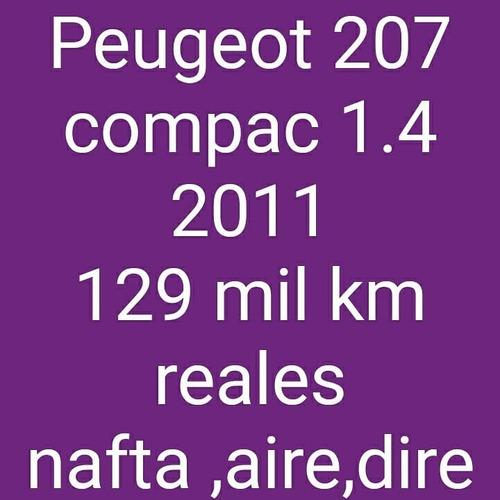 peugeot 207 compac 2011 1.4 nafta