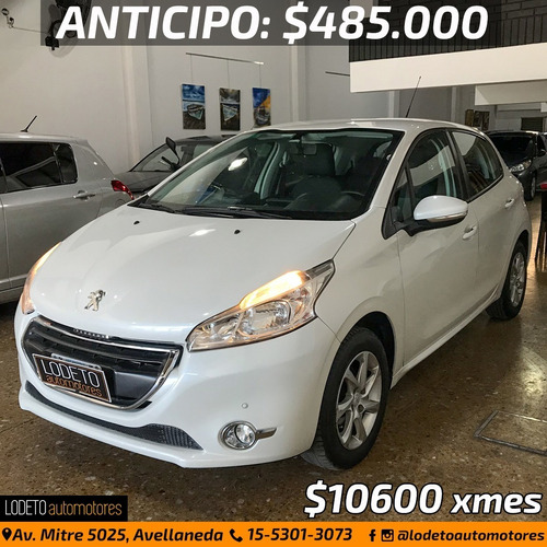 peugeot 208 allure touchscreen 2015 anticipo/financiacion/pe