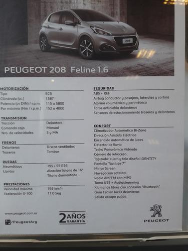 peugeot 208 feline 1.6 5 puertas 0 km 2017 nafta gris alumin