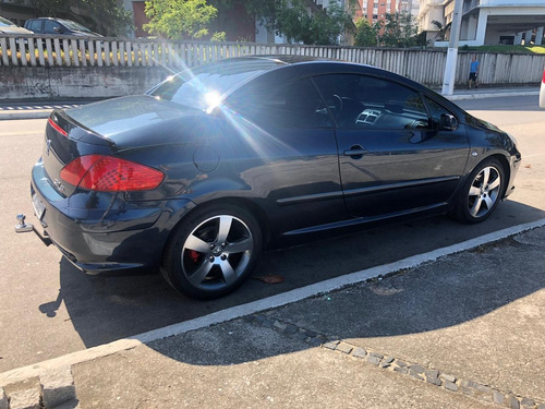 peugeot 307 cc conversível azul 2007