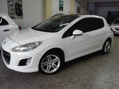 peugeot 308 1.6 hdi feline  115 blanco, año 2012, 5 puertas