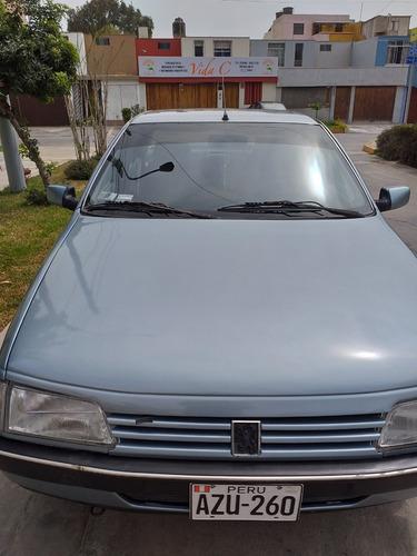 peugeot 405 gr /1995 motor 1.8 azul metalico 4 puertas