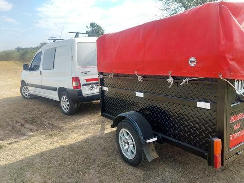 peugeot partner 1.4 confort nafta y trailer, acepto moto