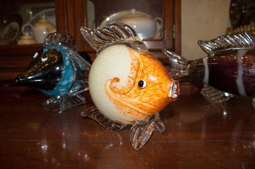 pez de cristal-murano italiano años 50
