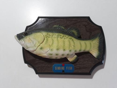 pez pescado cantante tipo big mouth billy bass