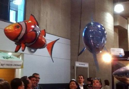 pez volador nemo a radio control remoto rc inflable
