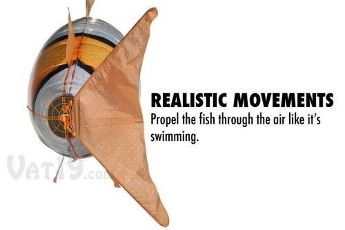 pez voldador control remoto 100% vuelo real 2 modelos