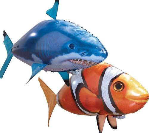 pez voldador control remoto 100% vuelo real pez o tiburon