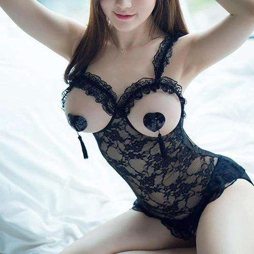 pezoneras adherible sexy corazón negro  fetish sado / sex