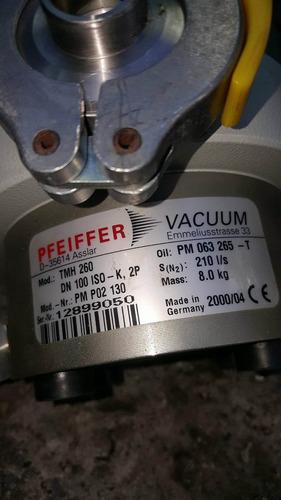 pfeiffer bomba turbo tmh 260 y controlador tcp 380 dn100 iso