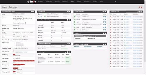 pfsense firewall servidor 2 lan gigabit - netgate - 200 usuários
