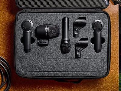 pgaestudio kit 4 shure microfonos bateria paquete winners