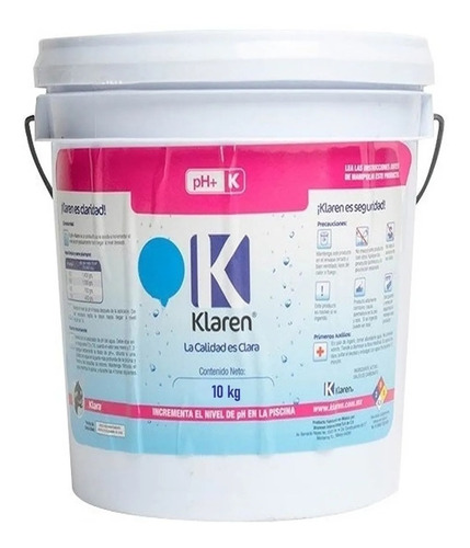 ph + 10 kgs klaren regulador para subir el ph alberca