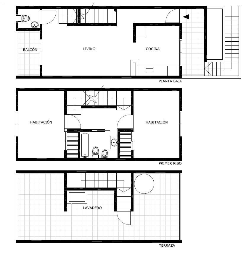 ph 3 ambientes al frente en venta con terraza de toda la superficie.