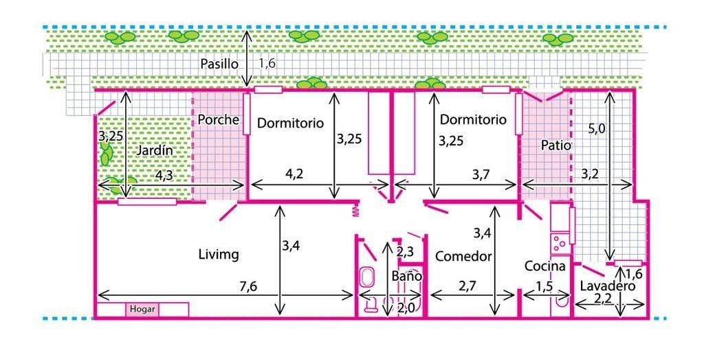 ph 3 ambientes florida - con jardín y patio