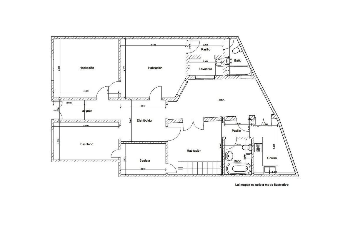 ph 5 ambientes con patio
