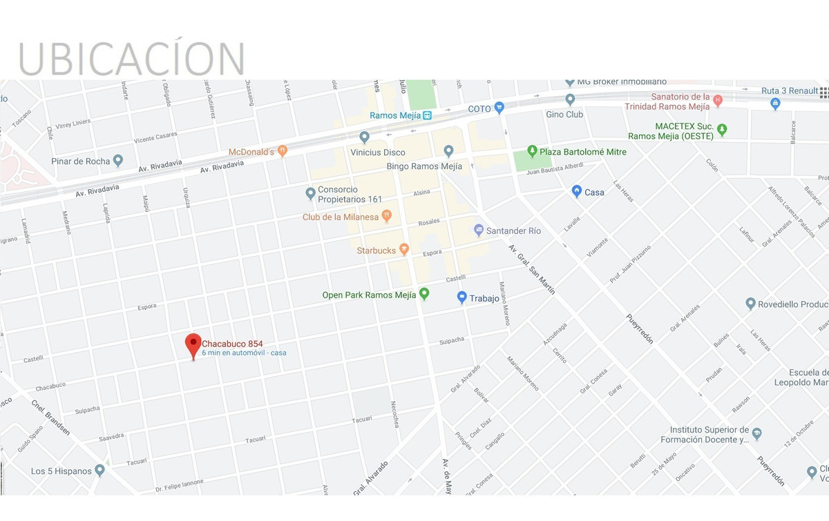 ph de 3 amb con patio // chacabuco 854 // ramos mejia