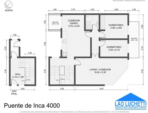ph de 3 ambientes con cochera y terraza propia!