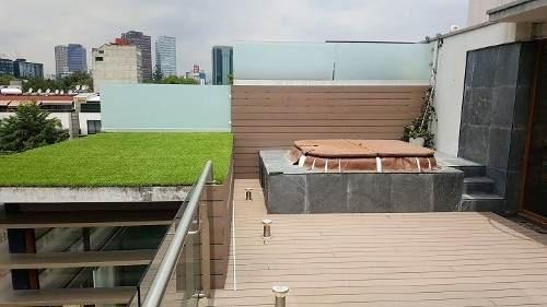 ph de 3 niveles con roof garden polanco