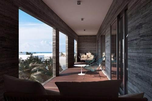 ph en hermoso desarrollo con galería de arte en playa del carmen
