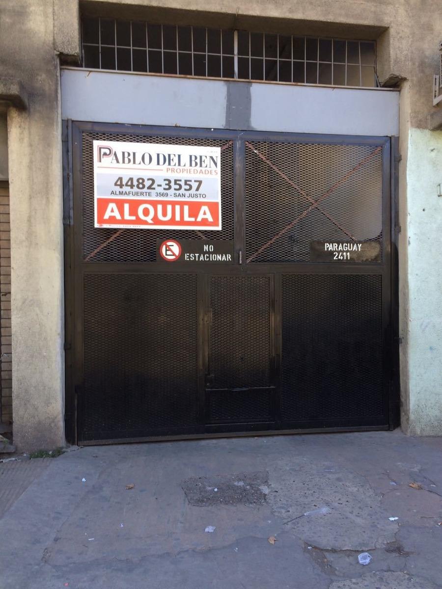 p.h en san justo centro 6 cocheras en block comercial