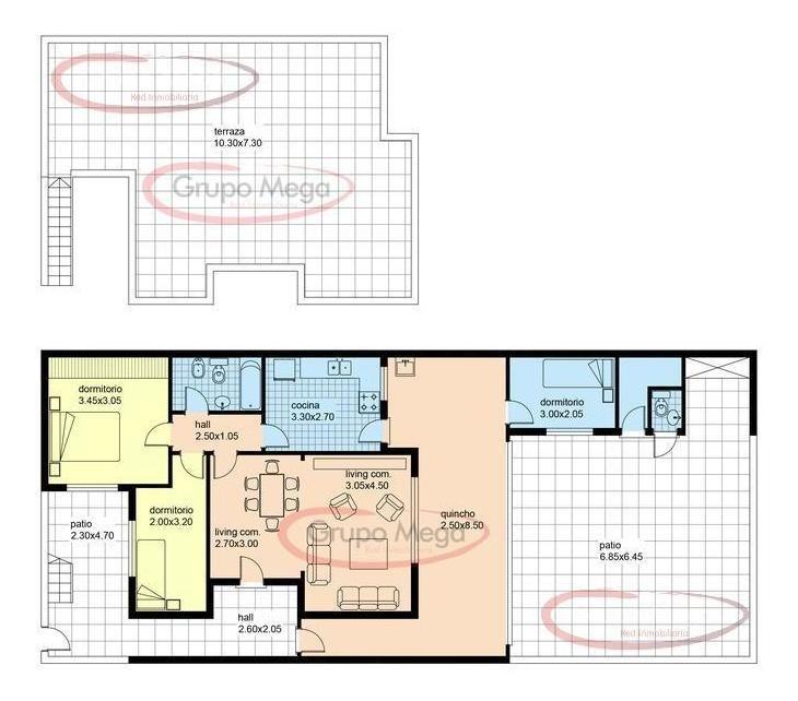 ph  entrada independiente , fondo y terraza