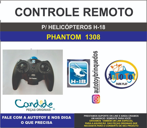 phantom 1308 - h-18 - controle remoto