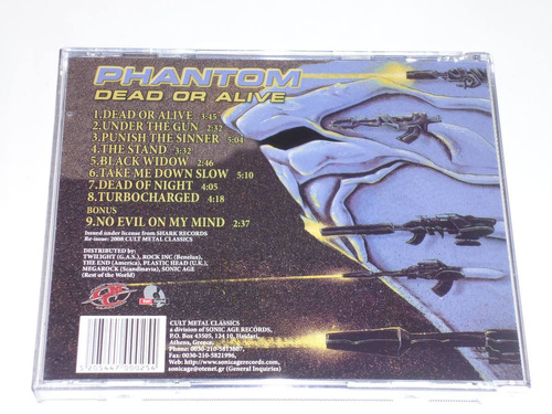 phantom dead or alive cd cult power speed metal usa