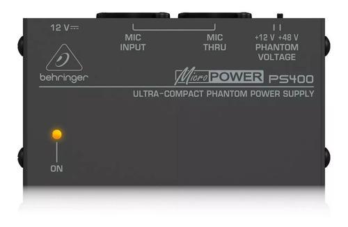 phantom power behringer ps400 + garantía