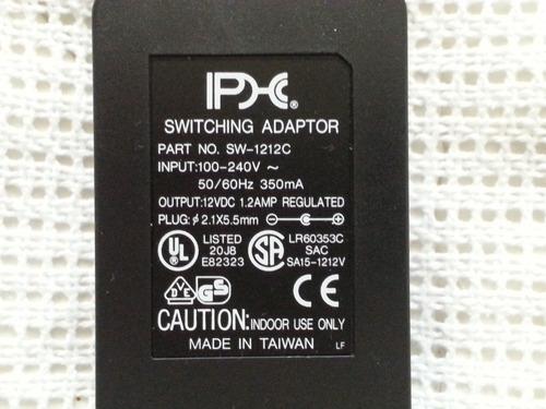phc adaptador cargador 12v 1.2 amp regulado plug 2.1 x 5.5