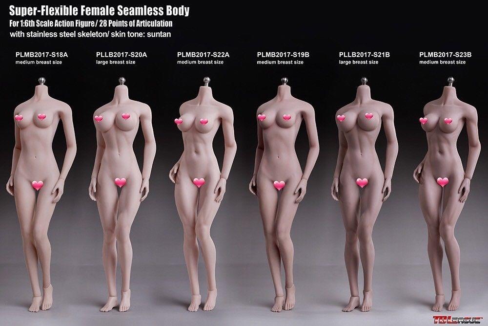 Phicen Cuerpo Femenino Busto Mediano S18a Hot Toys Sideshow ...