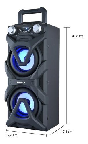 philco djp10 parlante activo portatil con bluetooth usb fm