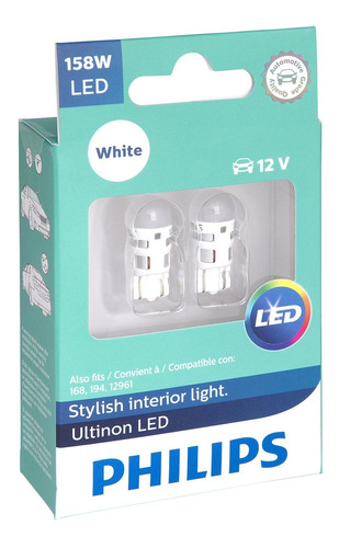 philips 158 ultinon led bulb (blanco), 2 paquete