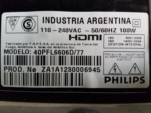 philips 40pfl6606d panel botonera tactil