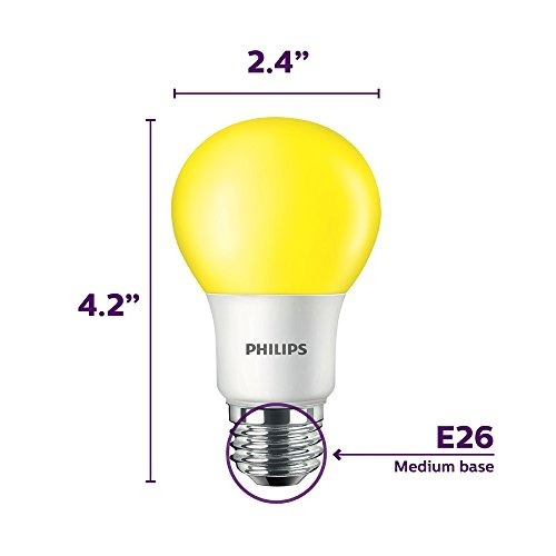 philips 463190 60w equivalente  bombilla led amarilla a19