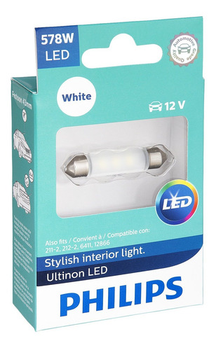 philips 578 ultinon led bulb (blanco), 1 pack