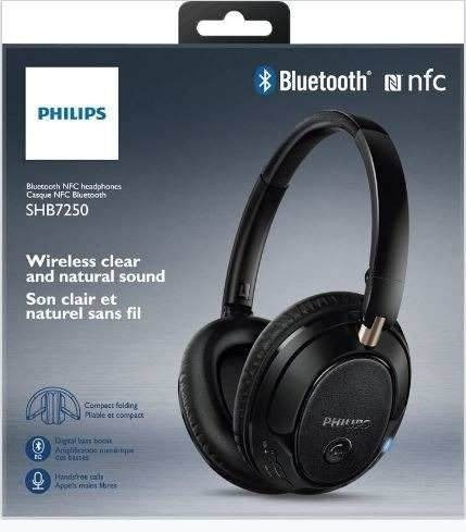 philips audifonos bluetooth shb7250 negro