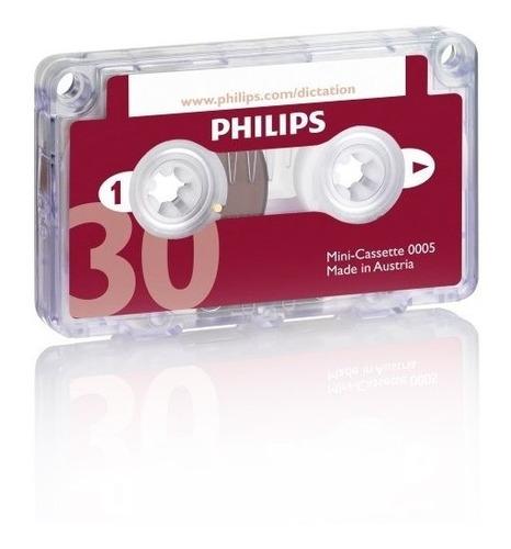 philips® audio y equipo de dictado mini cassette, 30minutos