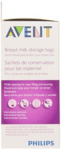 philips avent mama leche almacenamiento bolsas, claro, 6