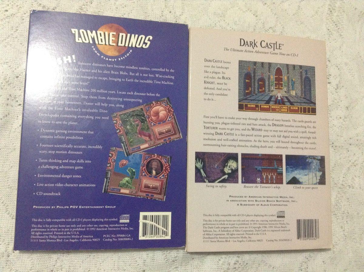 Philips Cd I Dark Castle Y Zombie Dinos (no Mario,zelda) - $ 1,100 00
