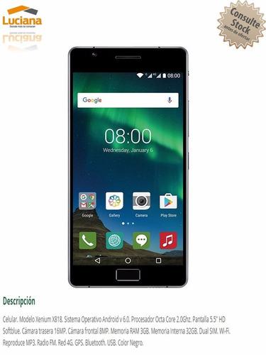 philips celular 5.5 dual sim/camara/32g/3g 4lt (55-309)