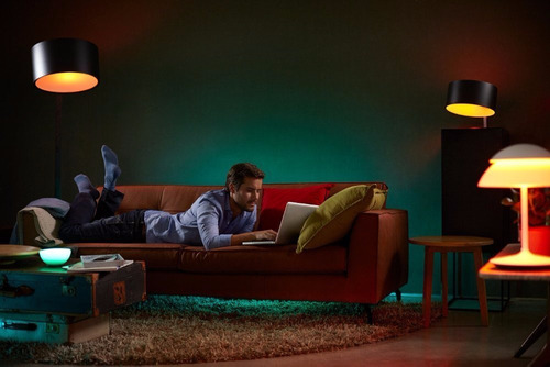 philips hue bridge con 3 focos multicolor 10w envío gratis