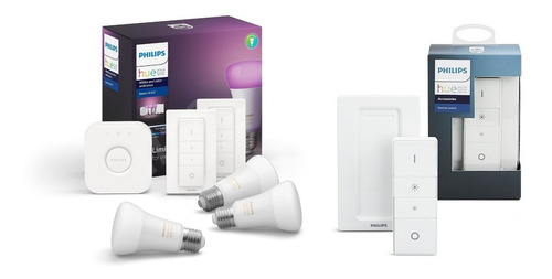 philips hue kit 3 white and colors + dimmer hue nuevo gtia
