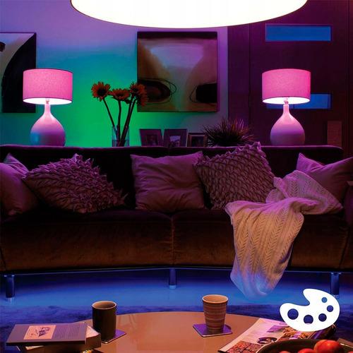 philips hue led start 4 lámparas color 10w a19 e26 + bridge