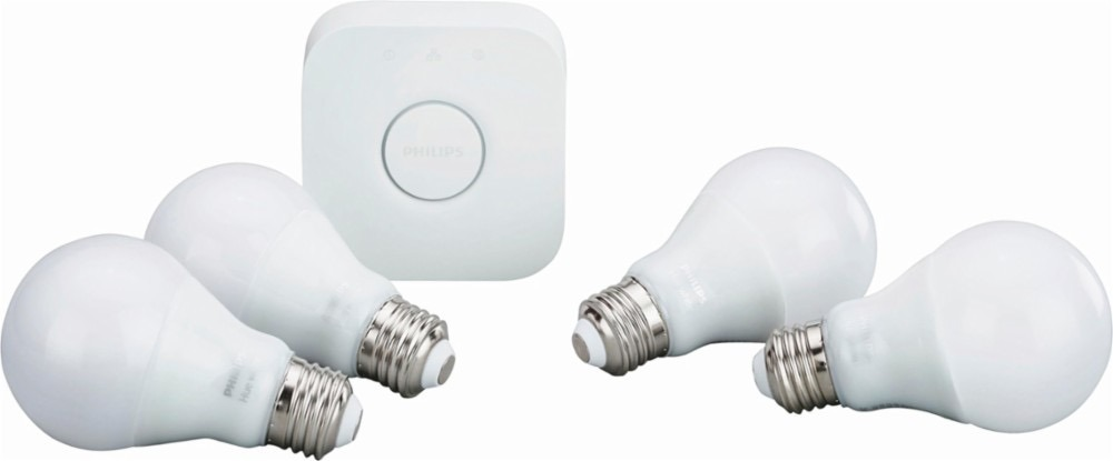 Philips Hue Starter Kit Com Hue Bridge E 4 Lampadas Brancas