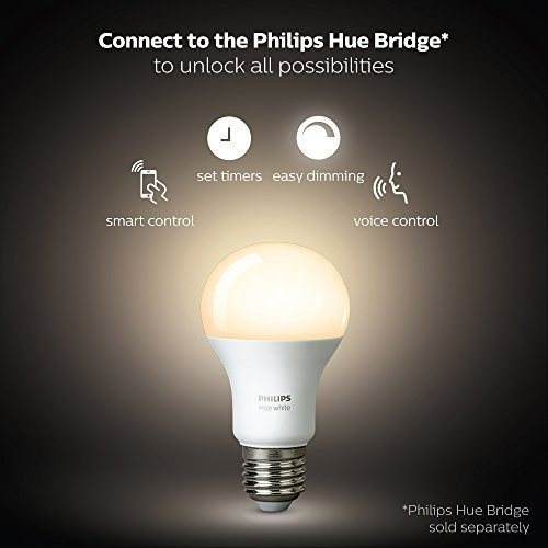 philips hue white 2-pack a19 60w equivalent dimmable led sm