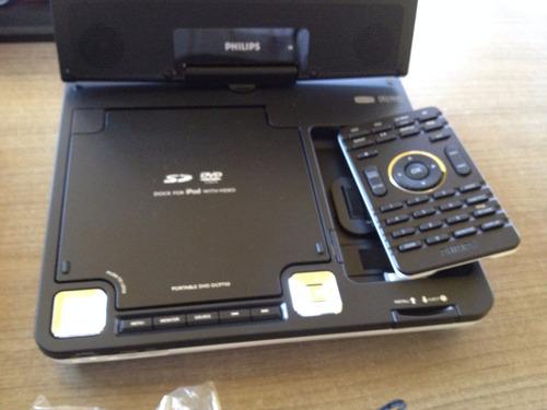 philips ipod dock e dvd portatil 7 mod. dcp750 - troco note