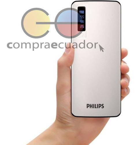 philips power bank 11000mah linterna cargador portatil rapid