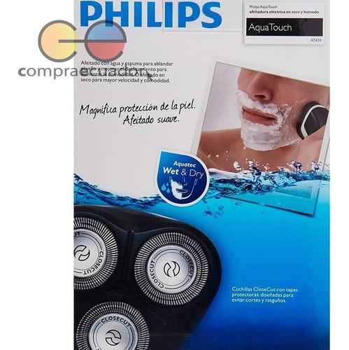 philips rasuradora afeitadora eléctrica en seco y mojado