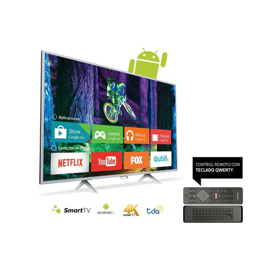 philips smart tv 4k 49 con android 49pug6801/77 bluetooth